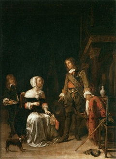 A Soldier Paying a Visit to a Young Lady