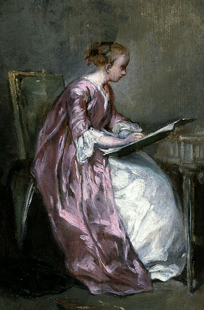 A Young Girl Drawing