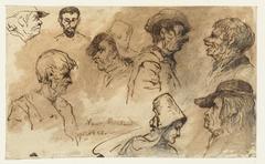 Acht karikaturale hoofden