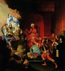 Allegory of enthroned injustice