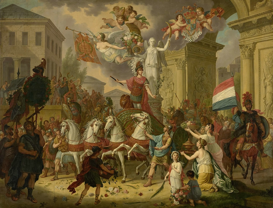 Allegory of the Triumphal Procession of the Prince of Orange, the Future King Willem II, as the Hero of Waterloo, 1815