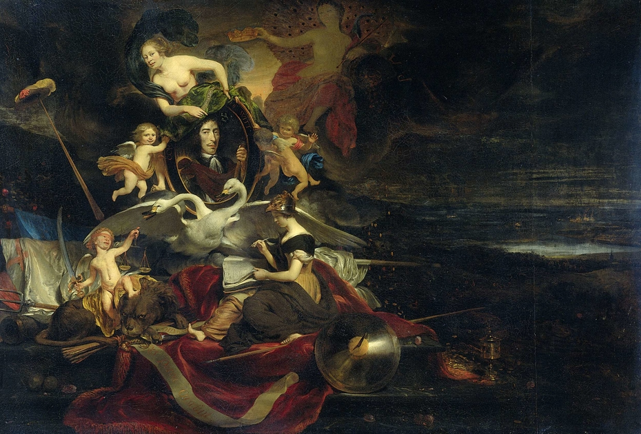 Allegory on the Raid on Chatham (1667), with a Portrait of Cornelis de Witt