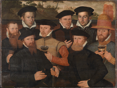 Amsterdam militia meal with 8 men