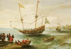 An Algerine Ship off a Barbary Port