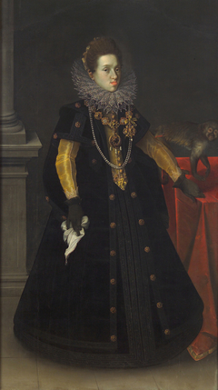 Archduchess Constance (1588-1631), Queen of Poland, with a Monkey
