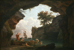 Bathers in a Cave