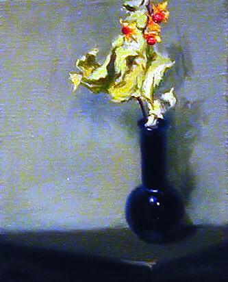"""""""Bittersweet & Blue"""" by Lydia Martin©-oil on Belgian linen (14""""x11"""")"""