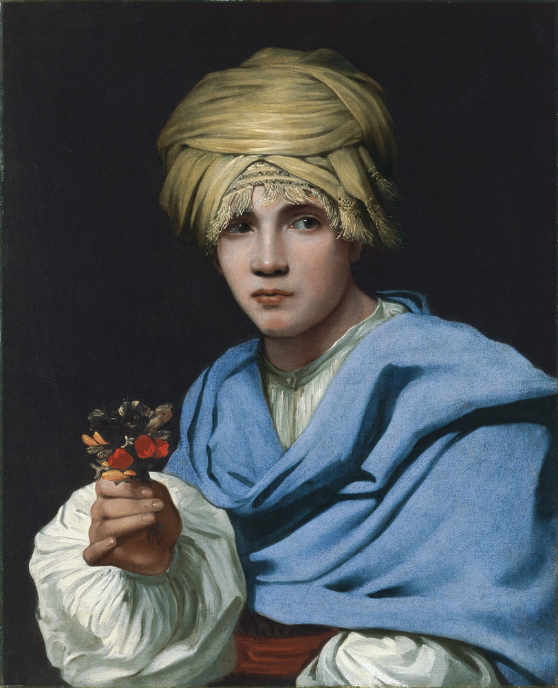 Boy in a Turban holding a Nosegay