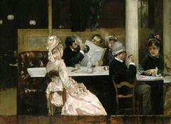 Cafe Scene in Paris