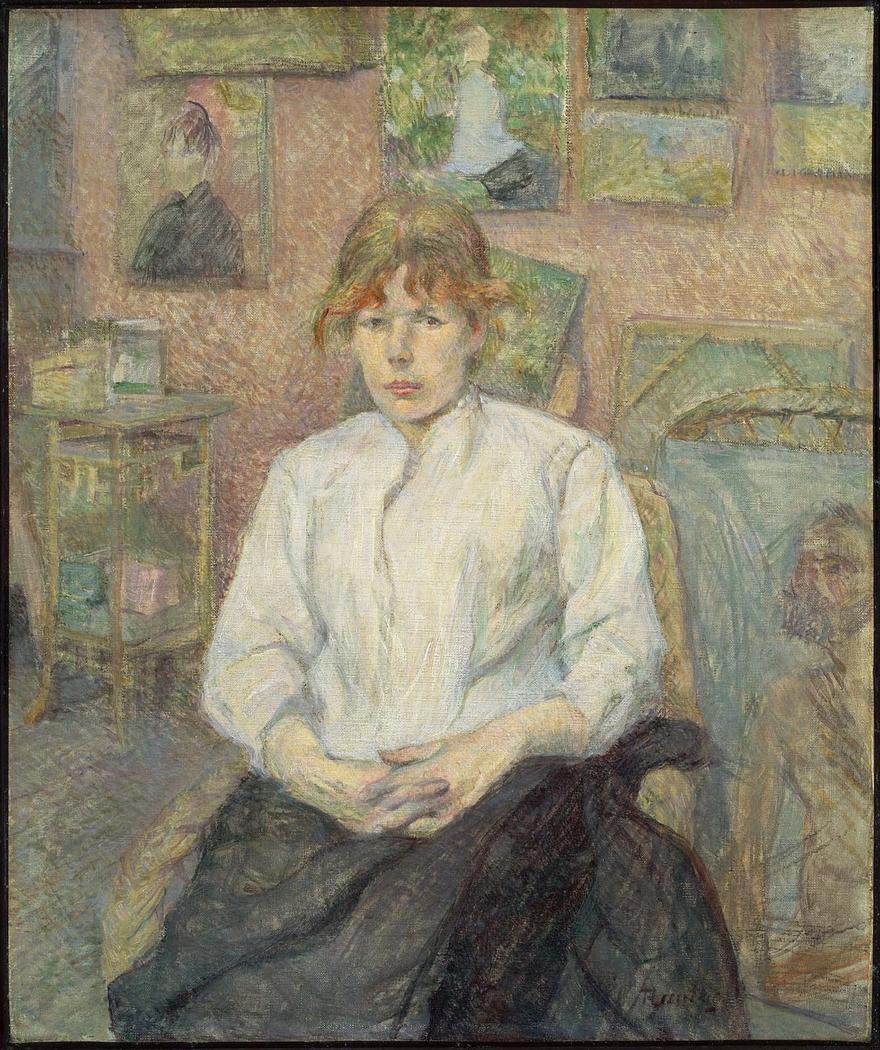 Carmen Gaudin in the Artist's Studio