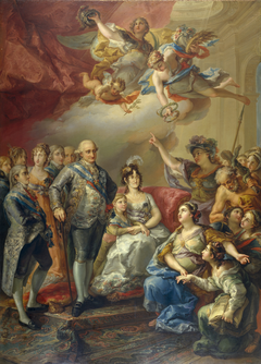 Charles IV and his Family honoured by the University of Valencia