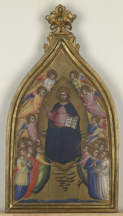 Christ Enthroned  Within a Mandorla
