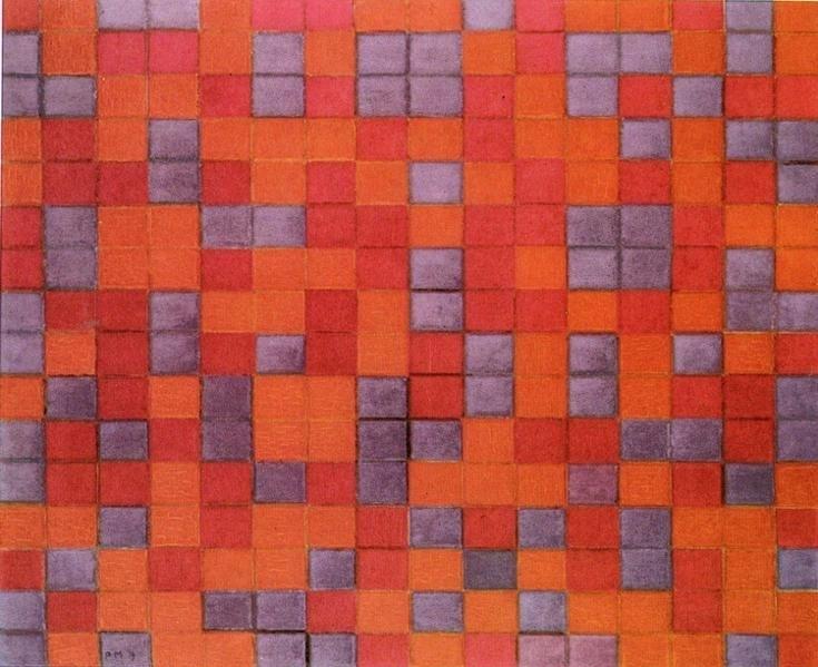 Composition Checkerboard, Dark Colors