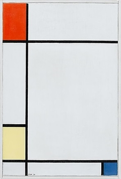 Composition no. III with red, yellow, and blue