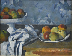 Compotier, assiette et pommes (Still Life with Apples in a Bowl)