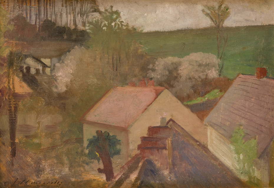 Countryside Landscape with Houses