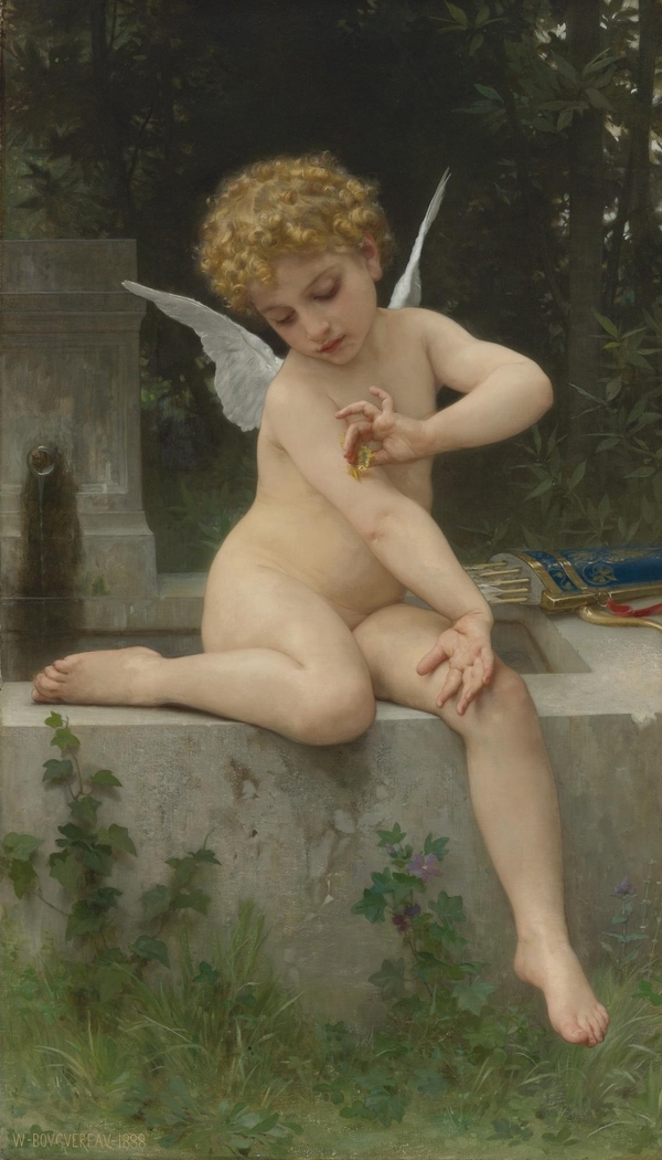 Cupid with a Butterfly