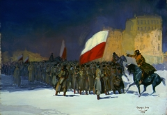 Czechoslovakian Army Entering Vladivostok, Siberia, in 1918
