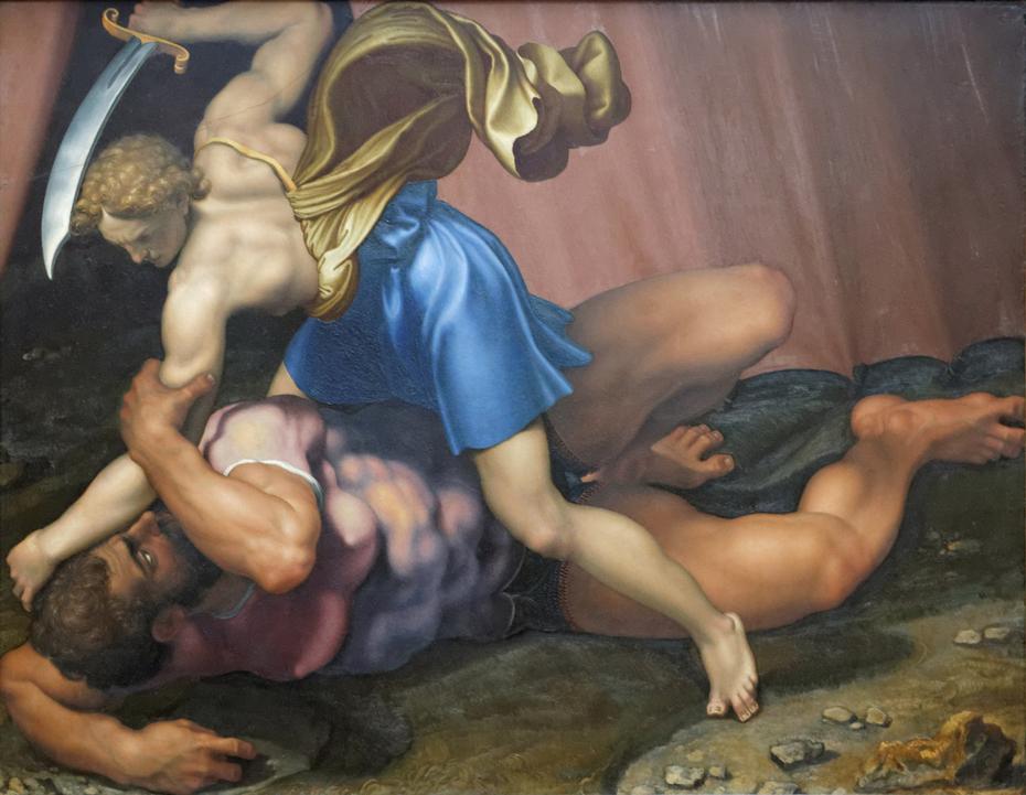 David and Goliath (verso)
