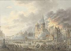 De inneming van een stad door Franse troepen