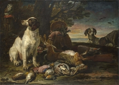 Dead Birds and Game with Gun Dogs and a Little Owl