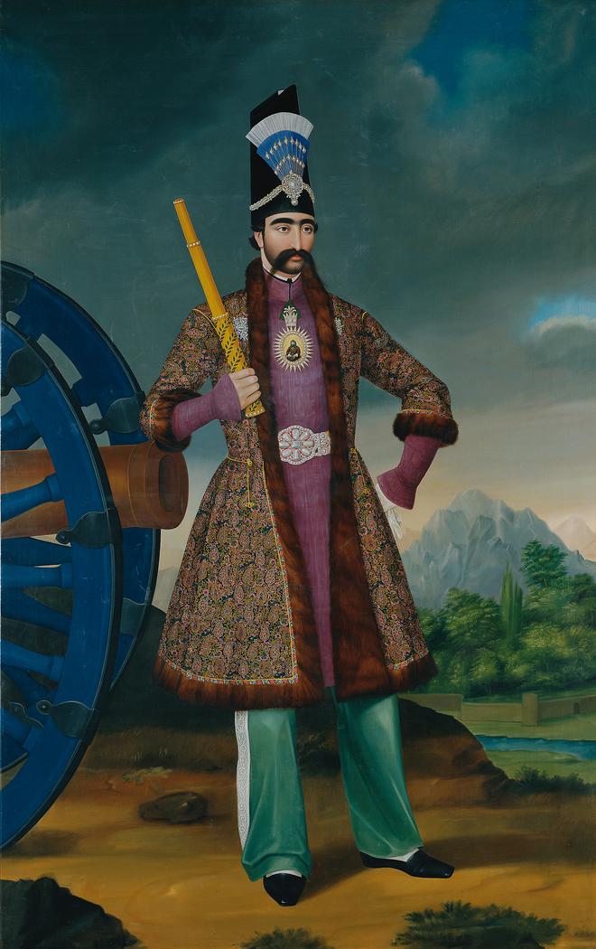 Der Schah von Persien Nāser ad-Dīn Schāh