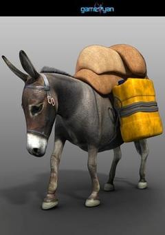 Donkey Animal Character Animation