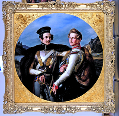 Double Portrait of Princes Friedrich Wilhelm of Prussia and Wilhelm zu Solms-Braunfels in a Cuirassi...