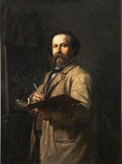 El pintor Salvador Martínez Yago padre del artista