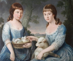 Elizabeth Chichester, later Mrs George Blount (1771-1820) and Mary Macdonald Chichester, later Lady Clifford (1768 - 1825), aged 5 and 9