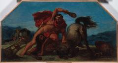Esquisse pour le salon de la Paix à l'Hôtel de Ville de Paris : Hercule tuant le centaure Nessus