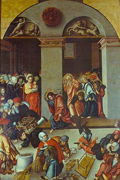 Expulsion of the money changers from the temple