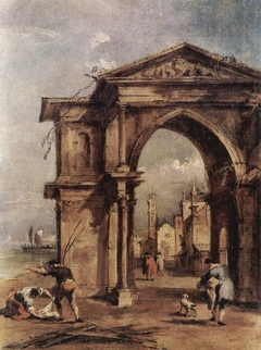 Fantasy Arch with Human Figures