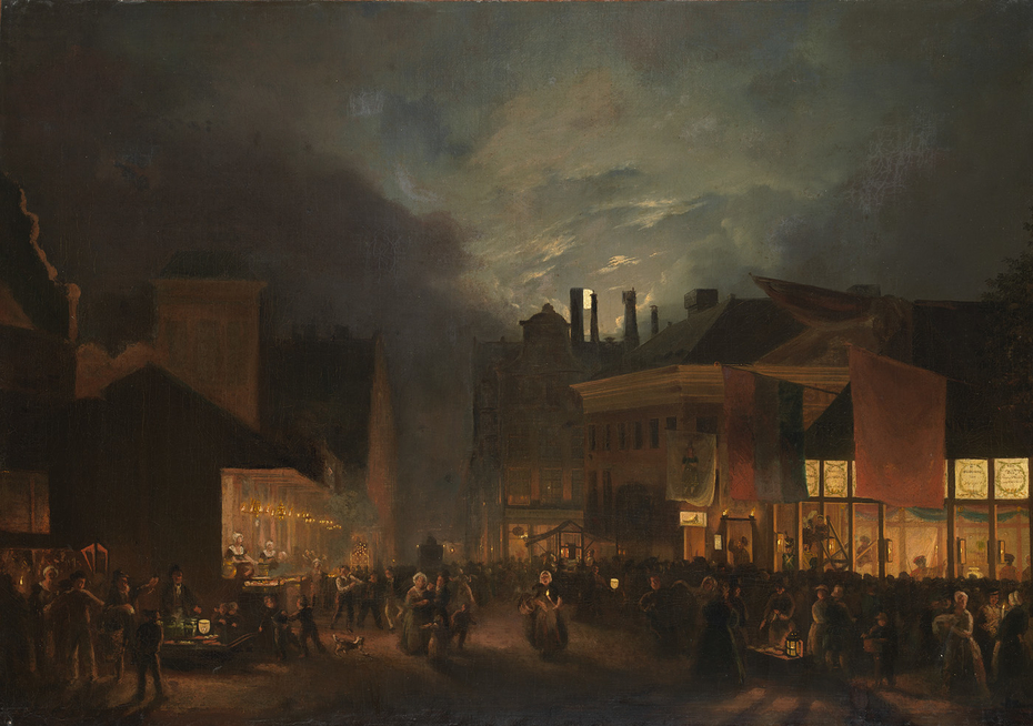 Festival on the Butter market by evening