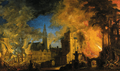 Fire at the powder factory in Antwerp
