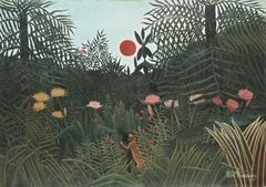 Forêt Vierge au soleil couchant