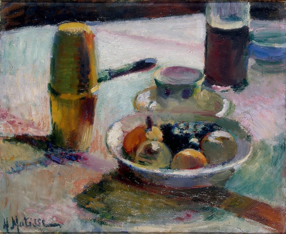 Fruit and Coffeepot