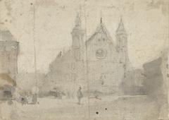 Gezicht op de Ridderzaal aan het Binnenhof
