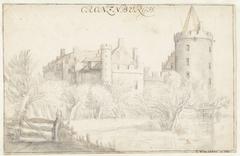 Gezicht op het Huis Kronenburg bij Loenen aan de Vecht
