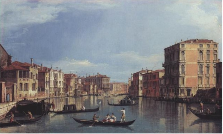 Grand Canal looking East from Palazzo Bembo to Palazzo Vendramin-Calergi