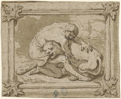Hercules in gevecht met de Nemische leeuw