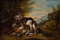 Hunting Still Life in a Landscape