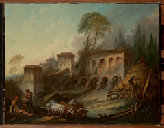 Imaginary Landscape with the Palatine Hill from Campo Vaccino