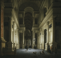 Interior of a Church at Night