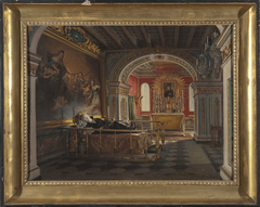 Interior of the chapel of Saint Stanislaus Kostka in Rome