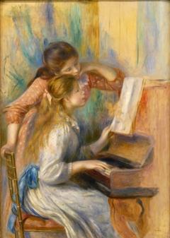 Jeunes Filles au piano by Pierre-Auguste Renoir