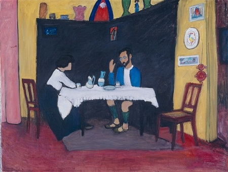 Kandinsky and Erma Bossi at the table