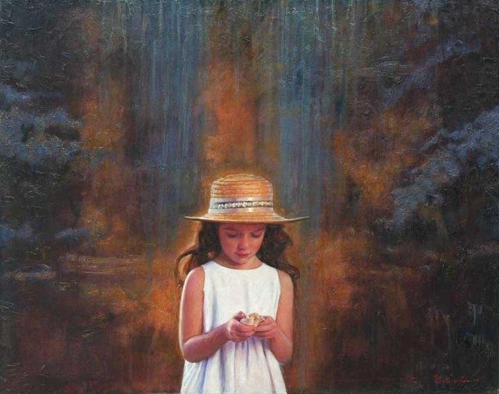"""""""Κοχύλι"""" / """"Shell"""", 80 x 100 cm, oil on canvas."""