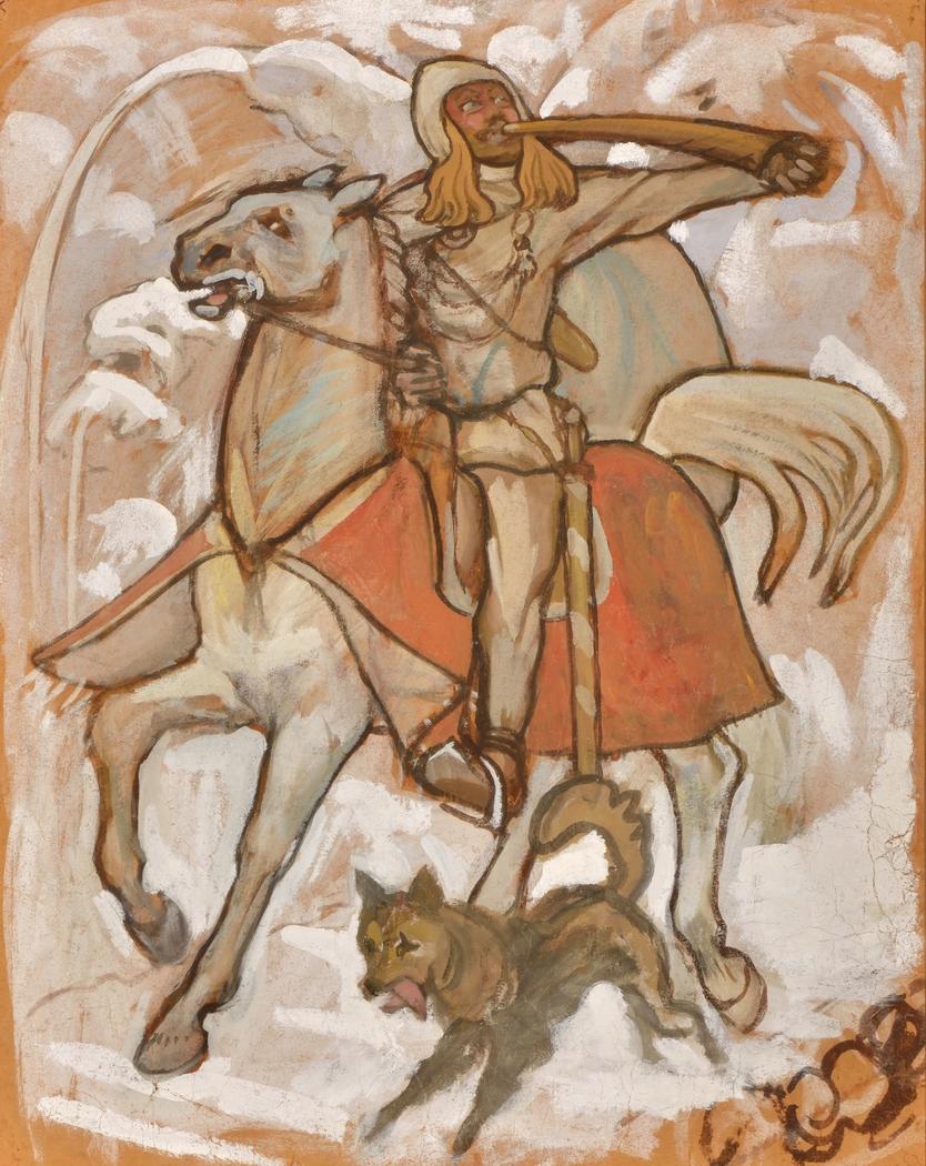 Kullervo Sets Off for War, sketch