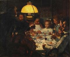 La cena de primera comunión de la pequeña portera